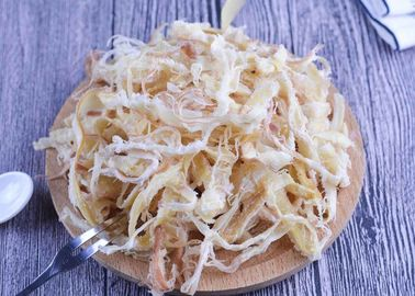 Sliver Seasoned Dried Squid Fin Shredded  Thailand Russian Market